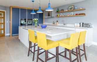 Contemporary kitchen, Cork Harbour View
