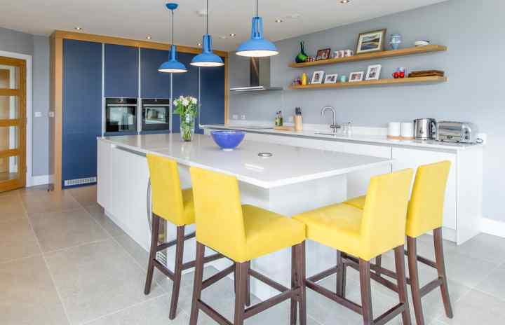 Contemporary kitchen, Cork Harbour View
